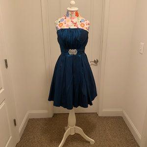 Ocean Blue Iridescent Prom Dress
